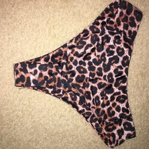 High waisted cheetah bikini bottoms